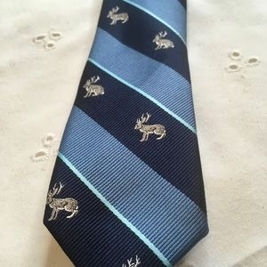 Urban Outfitters BDG skinny Tie Blue Jackalope